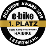 e-Bike Reader's Award 2015 - First Place for Best and Most Complete Range