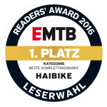 EMTB Readers' Award 2016 - First Place - Best and Most Complete Range